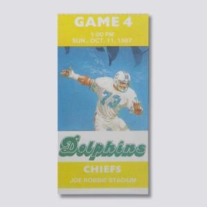 1987 Kansas City Chiefs Vs Miami Dolphins Canvas By Vintage BrandTM