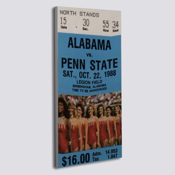 1988 Penn State Vs Alabama Canvas