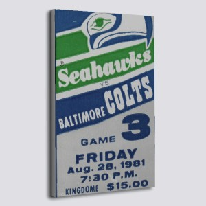 1981 Baltimore Colts Vs Seattle Seahawks Poster