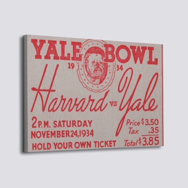 Harvard vs Yale Print