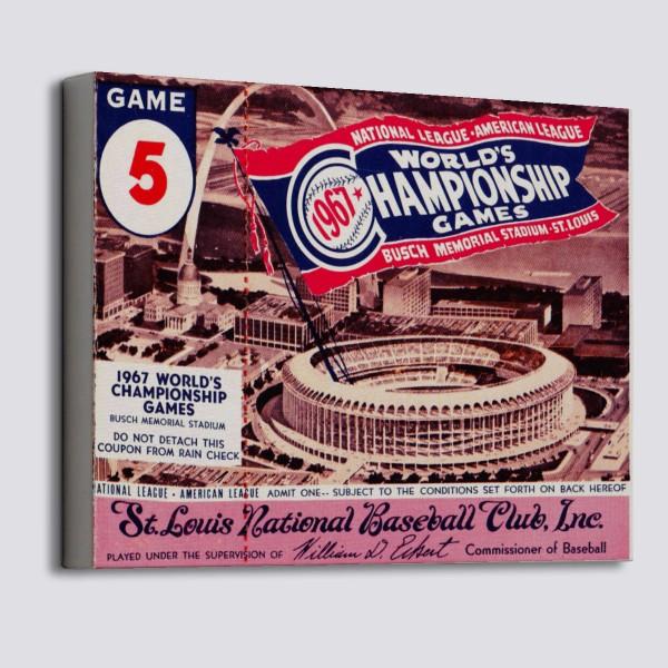 1967 World Series Canvas