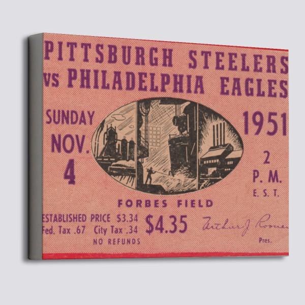 890f6b12 1951 Pittsburgh Steelers ad Canvas