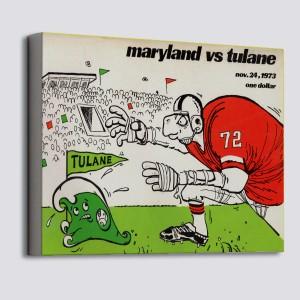 1973 Tulane vs. Maryland Canvas