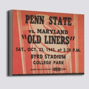 1943 Penn State vs. Maryland Canvas