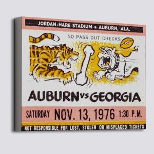 1976 Auburn vs. Georgia Canvas
