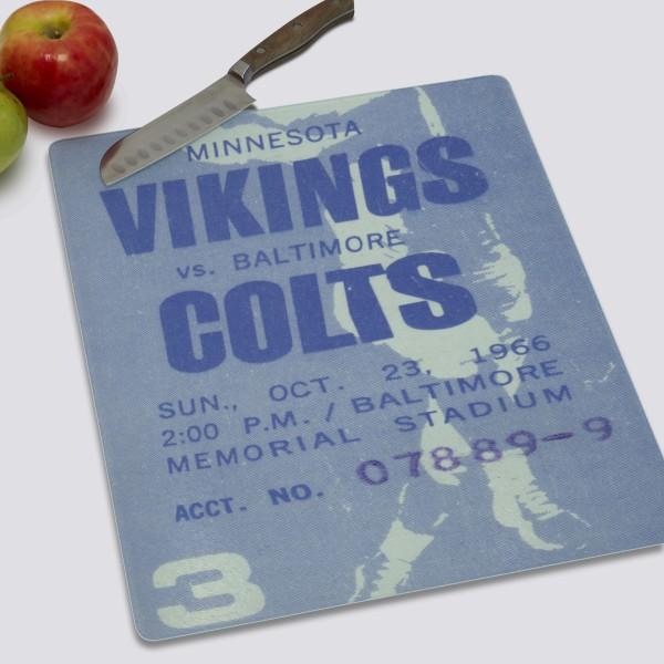 1966 Minnesota Vikings ad Cutting Board