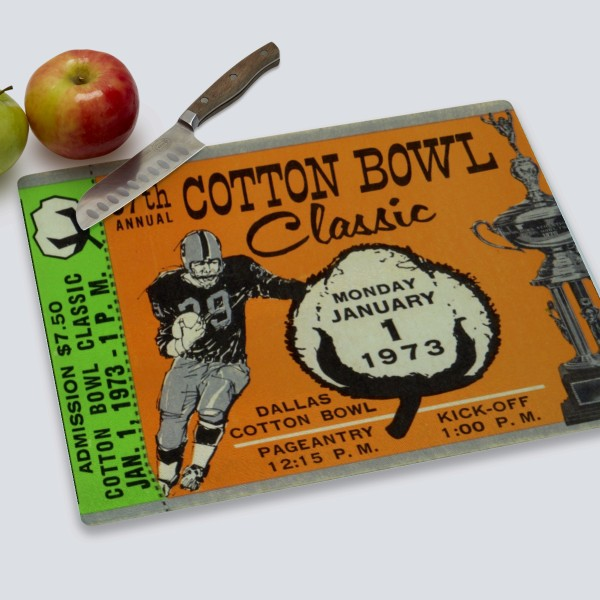 1973 Cotton Bowl Cutting Board