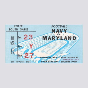 1964 Maryland vs. Navy Poster