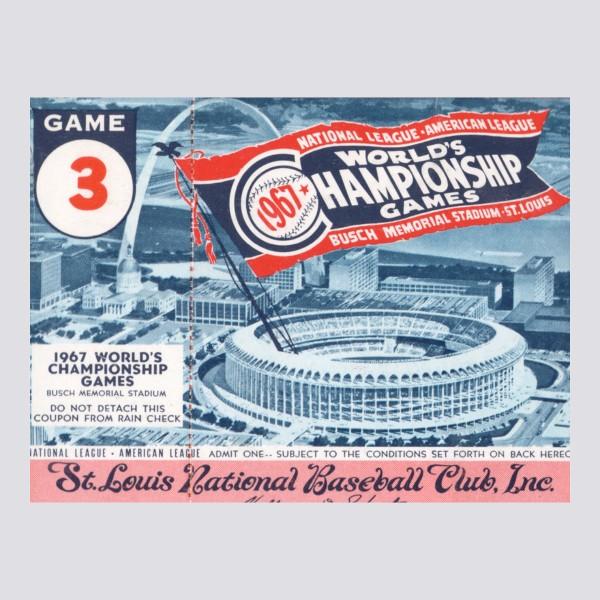 1967 World Series Poster