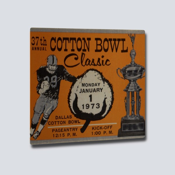 1973 Cotton Bowl Aluminum Wall Art