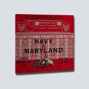 1950 Maryland vs. Navy Aluminum Wall Art