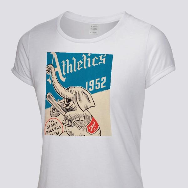89364366efbb3 1952 Philadelphia Athletics program Women s T-Shirt