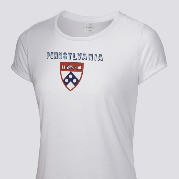 info for dd61f 6d80e 1951 Penn Quakers Women's T-Shirt